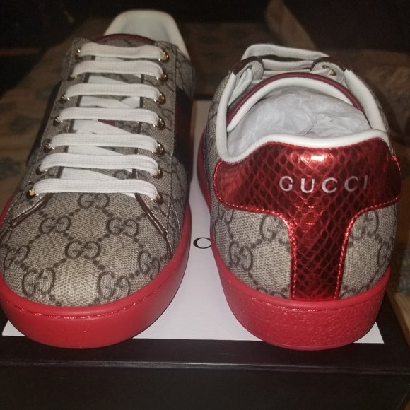 f918ee3a337 Man s Gucci red bottom sneakers